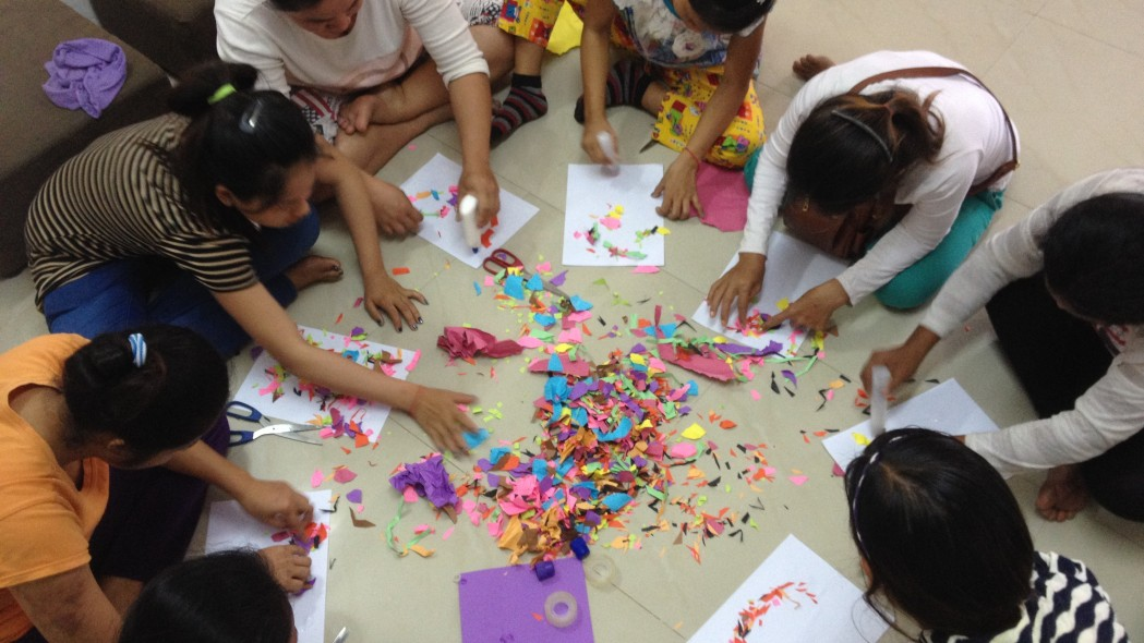 Art therapy with trafficked women