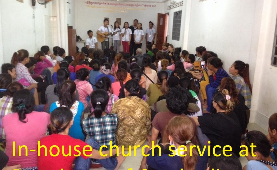 In-house church service at _Daughters of Cambodia_