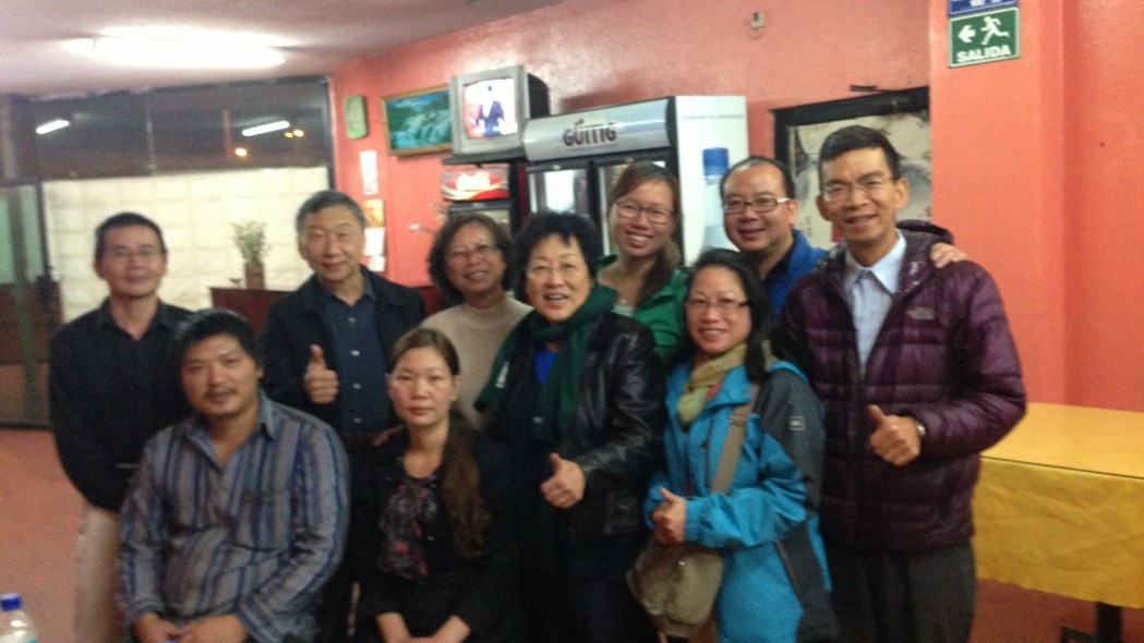 With the Chinese church visiting a Chinese restaurant